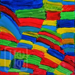 Janet Lee - Painting - Rainbow Squares